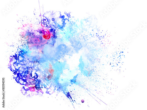 Photo Stands Floral woman Abstract beautiful Colorful watercolor painting background, Colorful brush background.