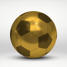 Golden Soccer Or Football Ball...