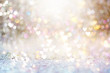 canvas print picture - Beautiful shiny hearts and abstract lights background