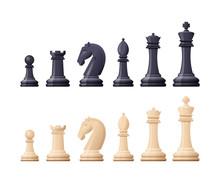 Black, White Chess Game Pieces...