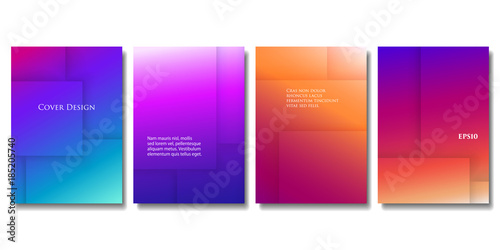 set of vector colorful brochure templates abstract three dimensional texture with gradient effect applicable - Colorful Brochure Templates