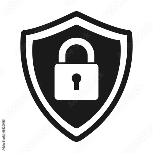 Secure protection abstract logo. vector shield lock Icon Tableau sur Toile
