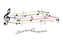 Musical Score Once In A Blue M...