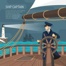 Sailboat Captain Nautical  Fla...