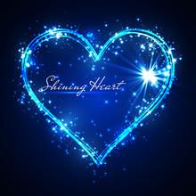 Shining Glitter Vector Blue He...