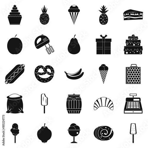 Fotografie, Obraz  Tucker icons set, simple style