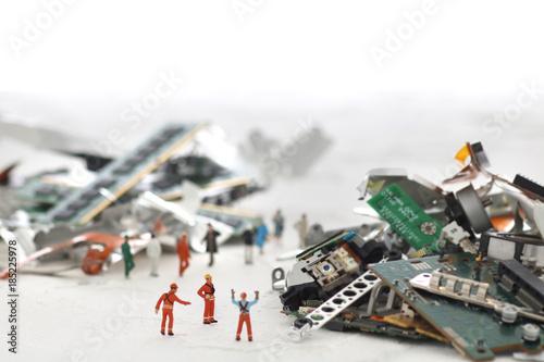災害と残骸 Fotobehang