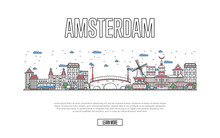 Travel Amsterdam Poster With A...