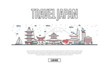 Travel Japan Poster With Archi...