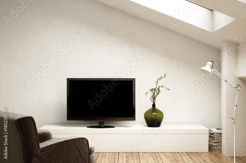 Wohnzimmer   Fernsehecke Im Dachgeschoss