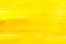 Abstract Painting With Bright Yellow Paint Strokes, Full Frame
