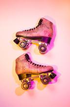 Retro Pink Glittery Roller Ska...