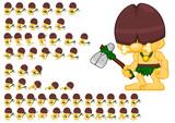 Fototapeta Dinusie - Cavemen Game Character