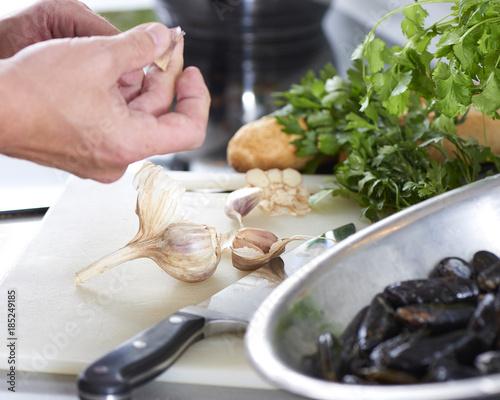 Mycie Jedzenia Gotowanie Muli Przygotowywanie Malzy Smaczne Owoce