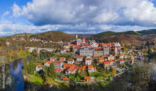 Fotografie, Obraz  Castle Loket in Czech Republic