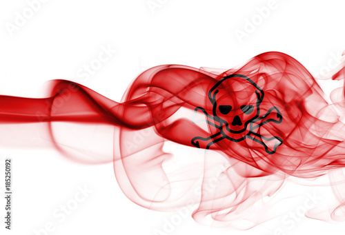 Slika na platnu Poison smoke sign flag