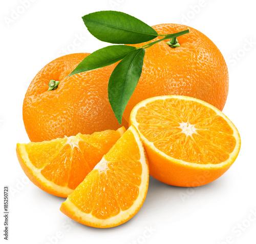 orange isolated on white Fototapeta