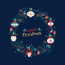 Merry Christmas Santa Claus Ca...