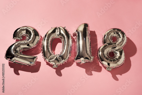Láminas  number 2018, as the new year