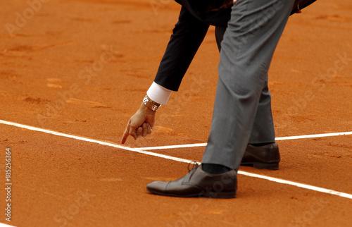 Juez durante partido de tenis Canvas Print