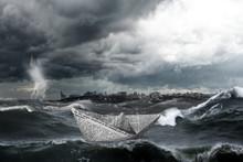Landscape With Large Storm Wav...
