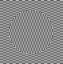 Optical Illusion Effect. Geome...