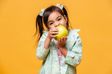 Cute Little Girl Child Eating ...