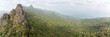 Panoramic view of the rainforest and mountain from mountain in the Hot Springs National Forest Park in Hainan Qixianling