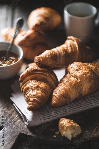 Fotografie, Obraz  Délicieux croissants pour le petit déjeuner