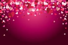 Valentines Day Floating Hearts Vector Dark Background 1
