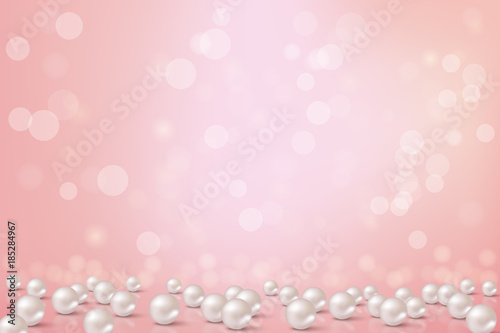 Photo Beautiful pink background with pearls