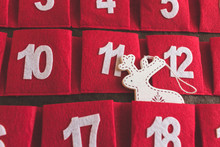 Close Up View Of A Red Advent ...