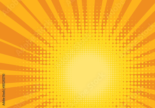 Fotobehang Pop Art Orange and Yellow Pop Art Background