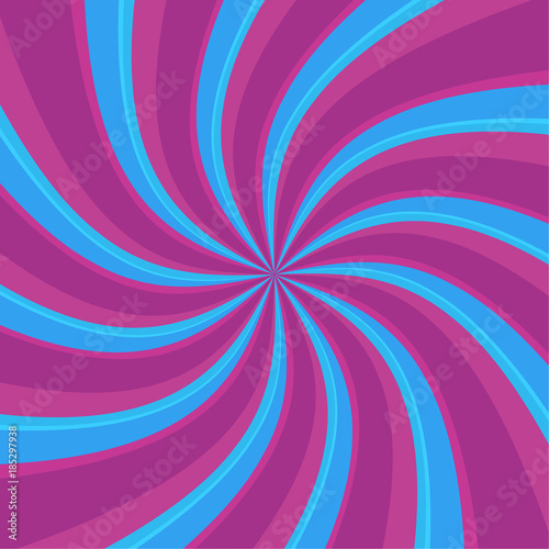 Spoed Foto op Canvas Psychedelic Swirl radial pattern backgrounds. Colorful, bright twirl rays. Vibrant beams. vector