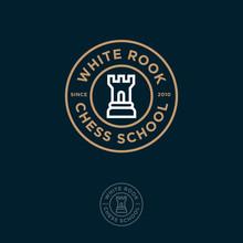 White Rook Logo. Chess Club Or...