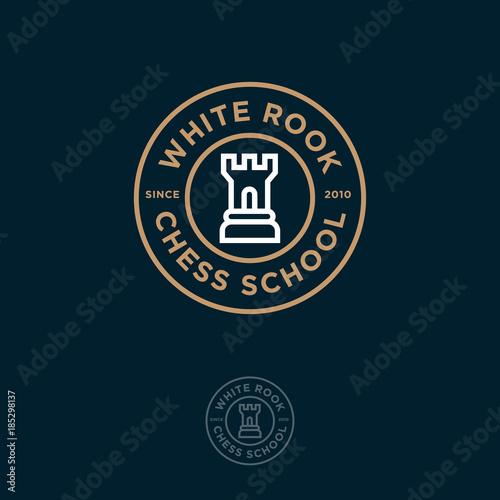 Valokuvatapetti White Rook Logo