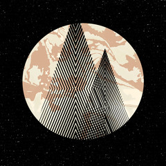 Fototapeta Minimalistyczny Vector geometric triangle background, abstract mountains.Conceptual background, with mountains. Ð¡onceptual design poster.