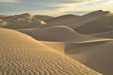 Dawn In Dunes Imperial Sand Dunes, California