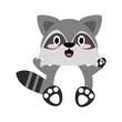 Cute puppy raccoon cartoon