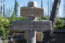 Canyon Creek Meadow Trail Sign
