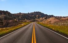 Roadway Through Badlands Natio...