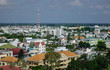 Aerial view of Long Xuyen city, Vietnam