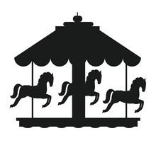 Rotating Horses Merry-Go-Round...