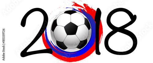 Plakat Piłka nożna 2018