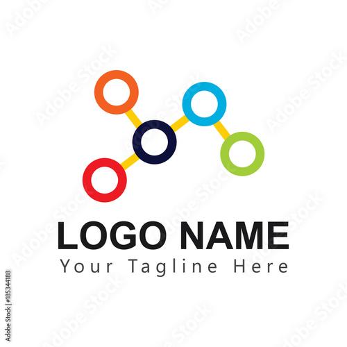 Fototapety, obrazy: Relation Logo Vector Template Design