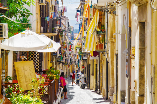 obraz PCV Italy,Sicilia,Cefalu town, beautiful narrow street