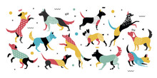 Dogs With Geometric Elements I...