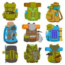 Backpack Camp Vector Backpacki...