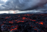 Volcano Tolbachik. Lava fields. Russia, Kamchatka, the end of the eruption of the volcano Tolbachik, August 2013