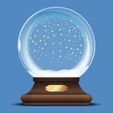 Transparent Crystal Ball On A ...